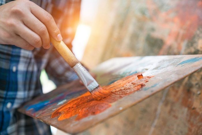 mixing acrylic paint