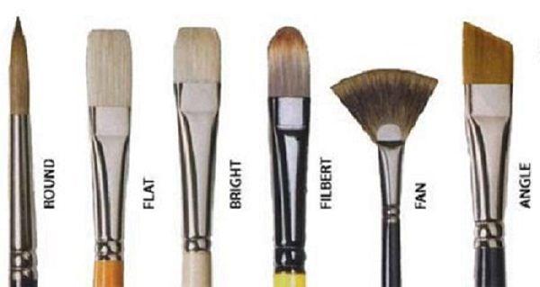 Types of Acrylic Paint Brushes