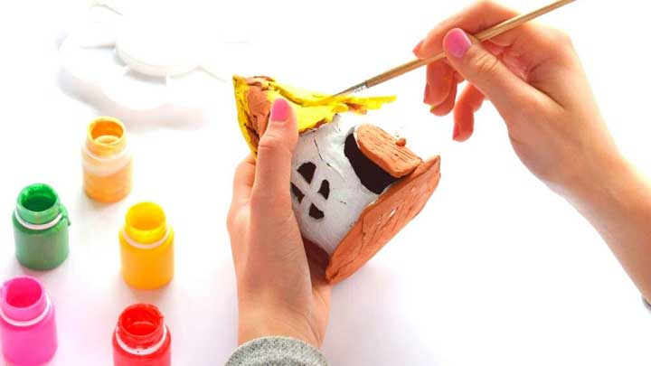 paint on clay