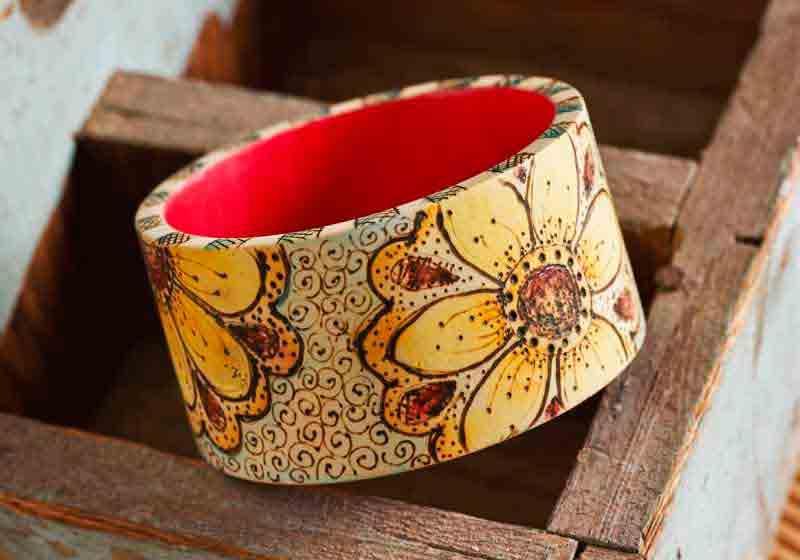 pyrography bracelets