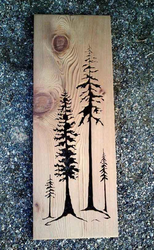 wood burning art ideas