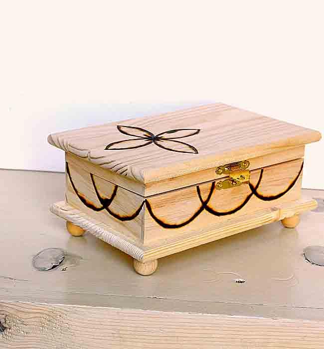 wood burning box ideas