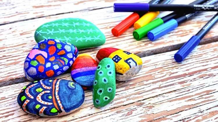 rock painting pens