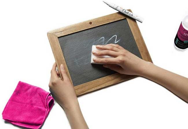 How To Get Chalk Off Chalkboard